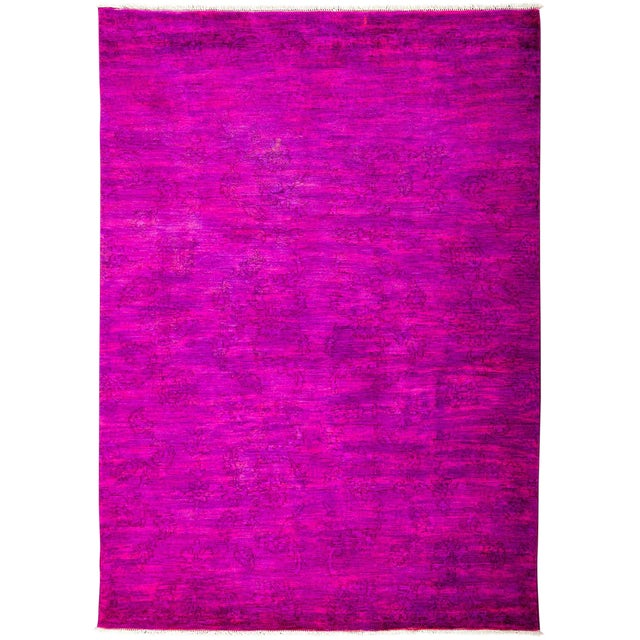 """Vibrance Hand Knotted Area Rug - 5'5"""" X 7'6"""" For Sale"""