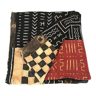 African Hand-Made Mudcloth Queen-Sized Quilt For Sale