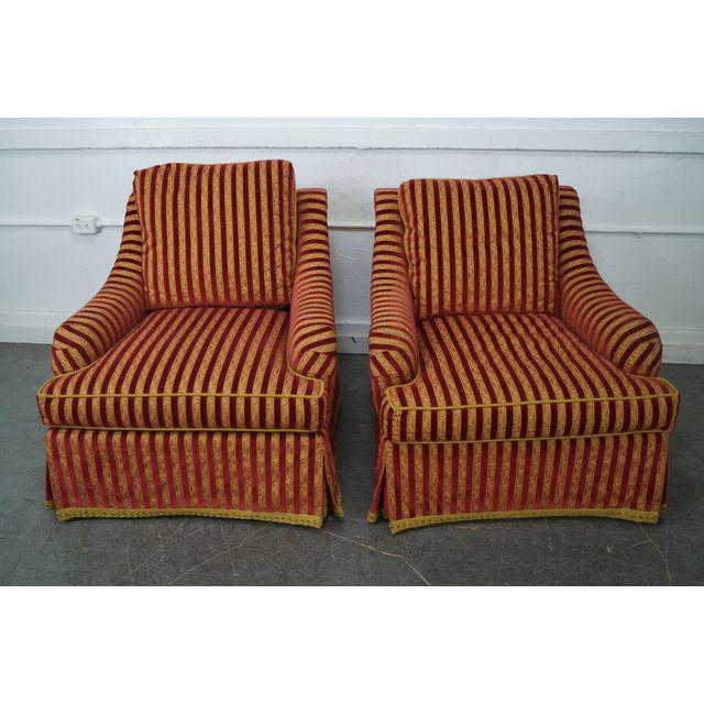 Unique Upholstered Chairs: Custom Upholstered Swivel Club Chairs - A Pair