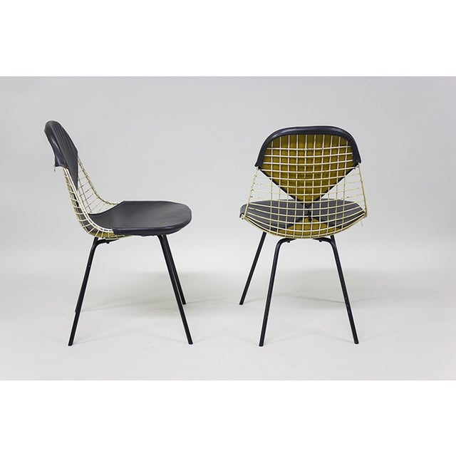 "1950s Early Eames Wire ""Bikini"" Chairs - A Pair - Image 3 of 5"