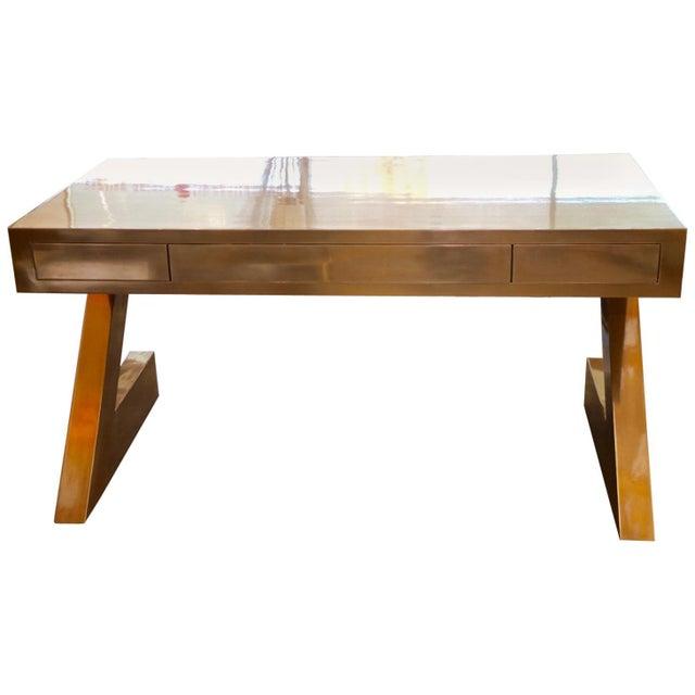 Zee Desk in Bronze by Bridges Over Time Originals For Sale - Image 13 of 13