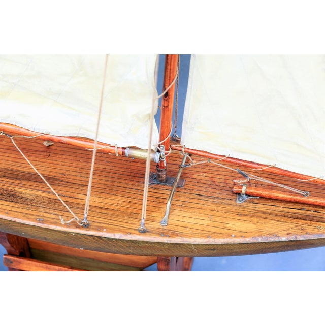 White 5' Antique English Pond Yacht Cutter For Sale - Image 8 of 9