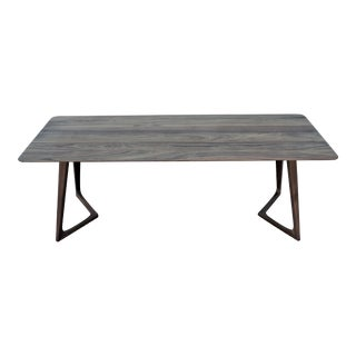 Modern Formstelle for Zeitraum Twist American Walnut Rectangular Coffee Table For Sale