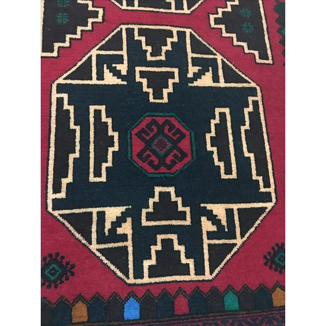 Oriental Hand-Knotted Wool Rug - 2′11″ × 4′6″ - Image 6 of 6