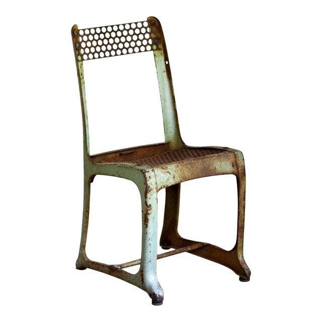 1950s Vintage Metal Envoy #13 Vintage Americana School Chair For Sale