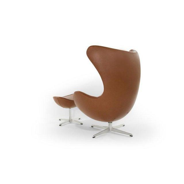 Arne Jacobsen for Fritz Hansen Egg Chair and Footstool, Denmark, 1966 For Sale - Image 12 of 13