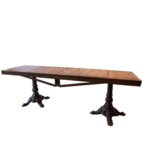 Black Made in Usa Reclaimed Wood Buffet Table For Sale - Image 8 of 8