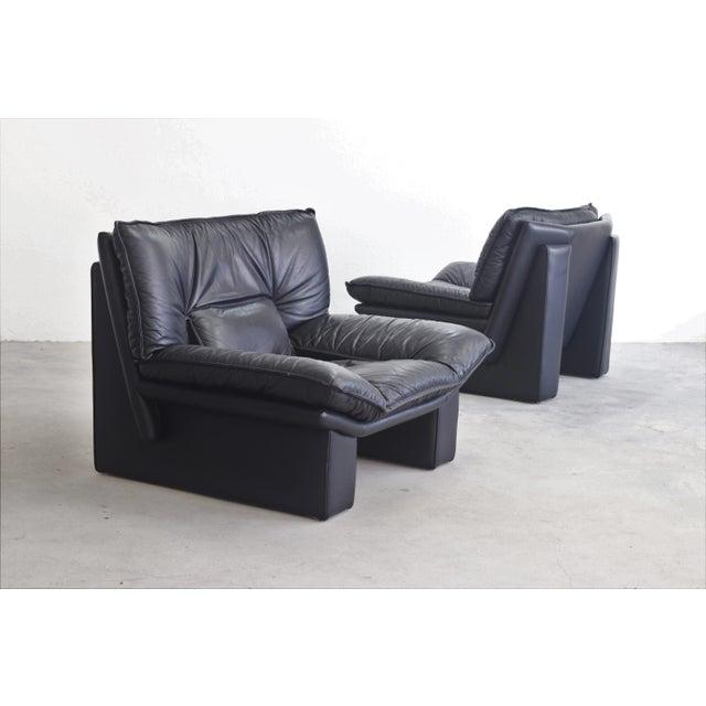 Italian Nicoletti Salotti Italian Modern Leather Chairs - Set of 2 For Sale - Image 3 of 3