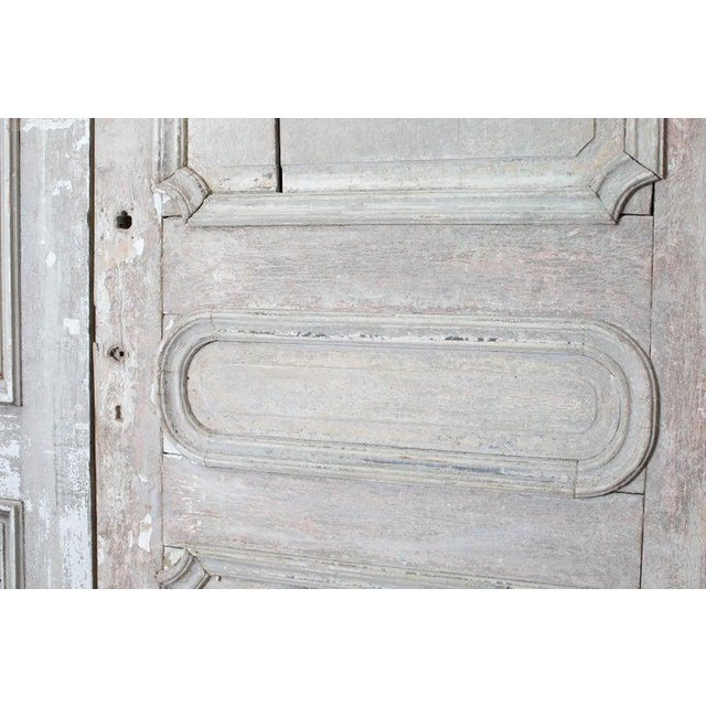 Rustic Pair of 19th Century French Painted Panel Doors For Sale - Image 4 of 13