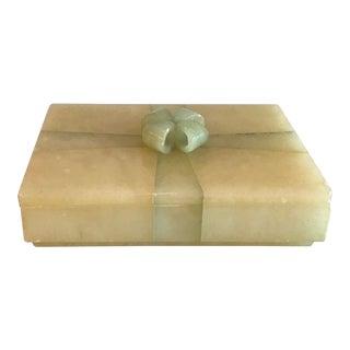 Vintage Mid-Century Italian Alabaster Box For Sale