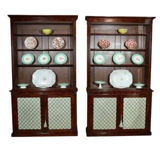 English Mahogany Bookcases-a Pair For Sale
