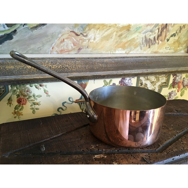 1880s Antique English Copper Saucepan For Sale - Image 4 of 10