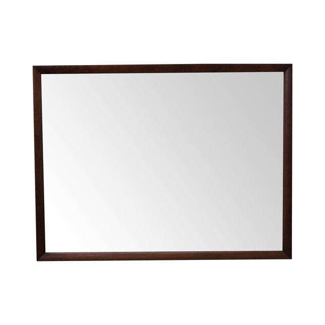 Heritage Henredon Mid-Century Modern Walnut Mirror - Image 1 of 10