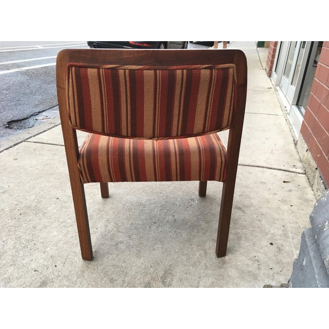 RISOM / MARBLE Risom Walnut Arm Chair For Sale - Image 4 of 6