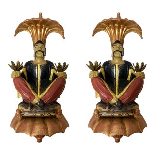 Pair of Chelsea House Chinoiserie Wall Sconces