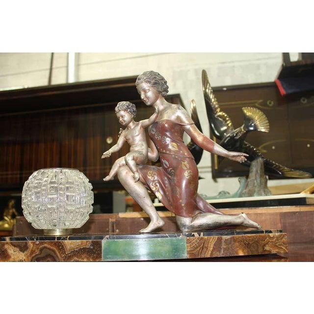 Cipriani U. Cipriani French Art Deco Lamp Sculpture For Sale - Image 4 of 10