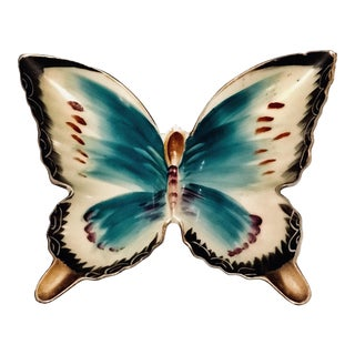 Vintage Porcelain Butterfly Dish / Ashtray For Sale