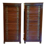 Image of 19th Century English Wellington Campaign Specimen Chests - a Pair For Sale