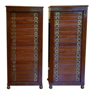 19th Century English Wellington Campaign Specimen Chests - a Pair For Sale