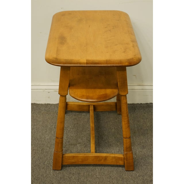 """Mid-Century Modern Mid Century Modern Solid Hard Rock Maple 25x15"""" End Table For Sale - Image 3 of 10"""