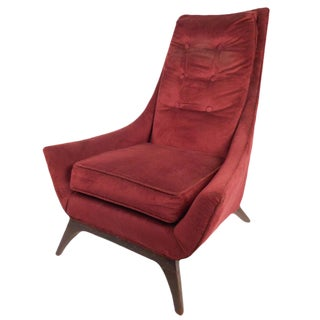 Adrian Pearsall Style Mid-Century High Back Lounge Chair For Sale
