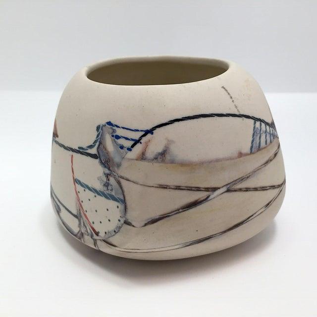 Late 20th Century Fine Art Contemporary Ceramic Vessel - Image 2 of 13