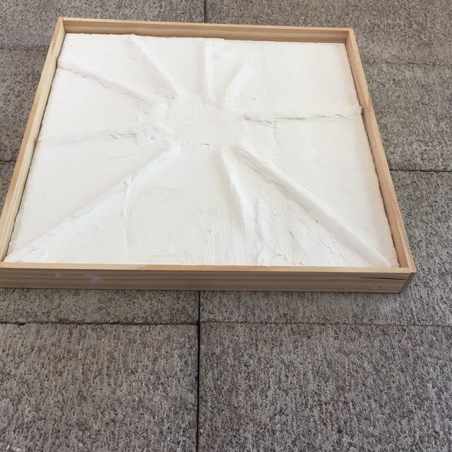 'Sun Flare' Minimalist Plaster Painting For Sale In San Francisco - Image 6 of 7