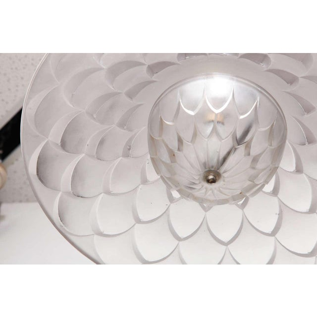 "Glass R. Lalique ""Verone"" Chandelier For Sale - Image 7 of 9"