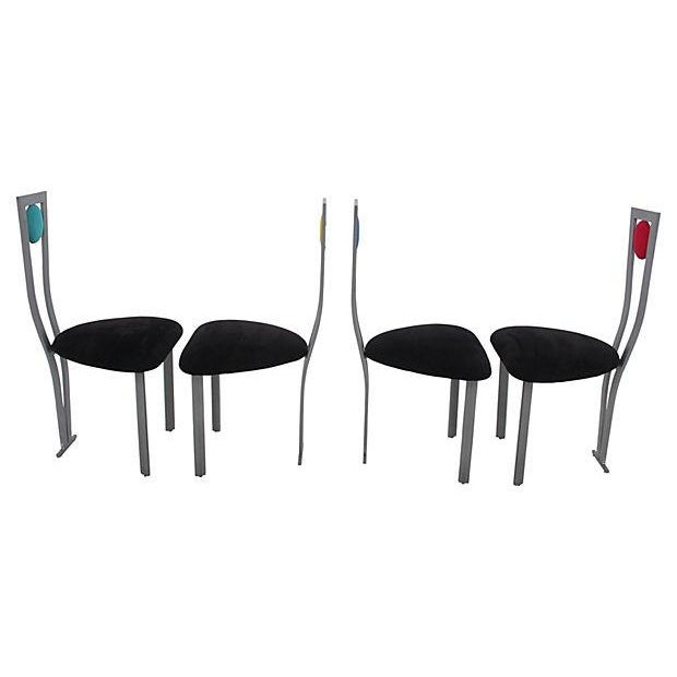 Joan Miró-Style Dining Chairs - Set of 4 - Image 5 of 8