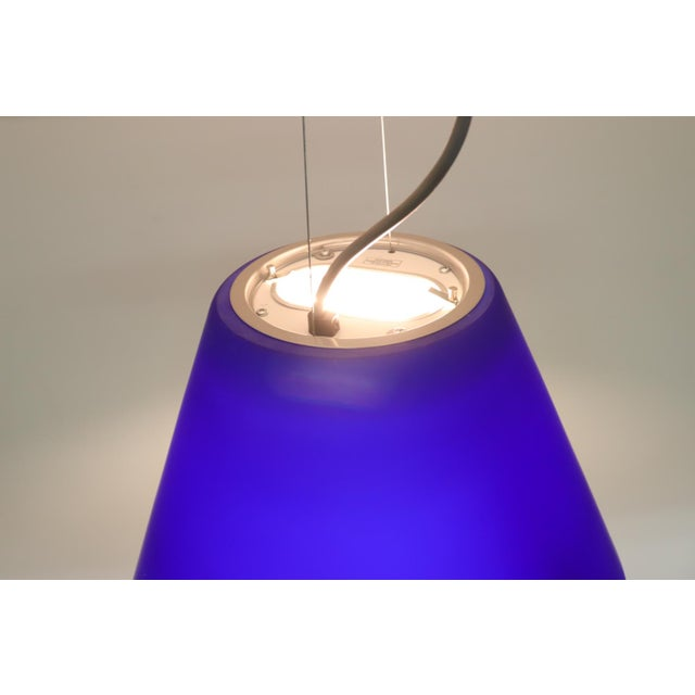 Late 20th Century Vintage Mid-Century Modern Murano Glass Pendant Lamp For Sale - Image 5 of 8