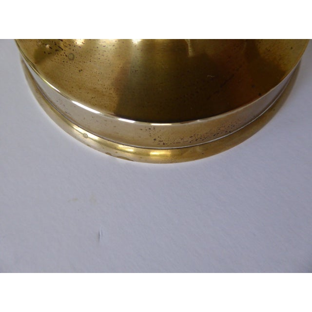 Vintage Japanese Brass Candle Holders - a Pair For Sale - Image 10 of 10