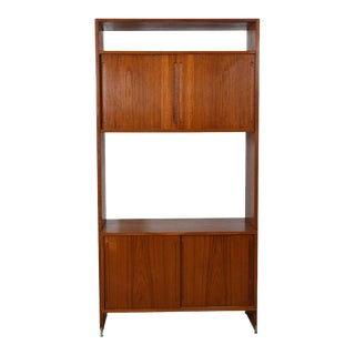 Danis Modern Single Modular Wall Unit Column / Room Divider in Teak by Hans Wegner (K: Sf) For Sale