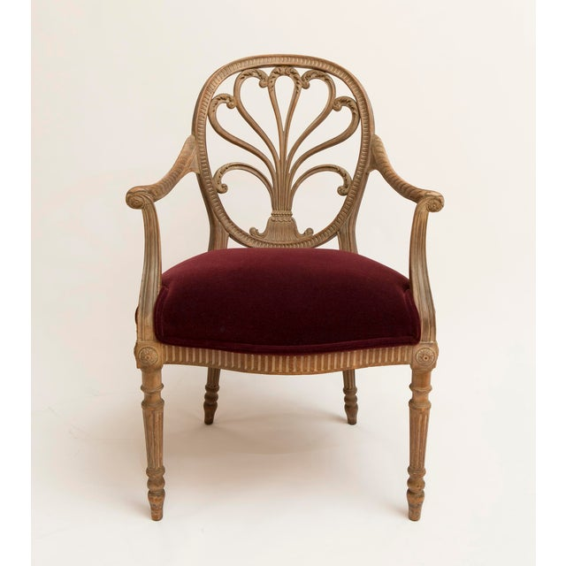 19th Century Regency Bleached Wood Armchair For Sale In Nashville - Image 6 of 6