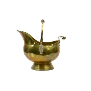 Vintage Dutch Brass Scuttle For Sale
