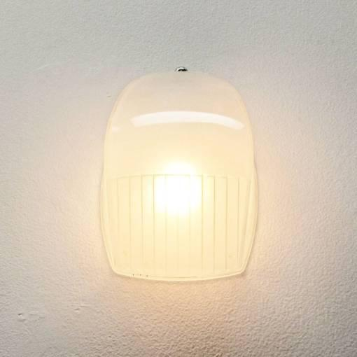 Pair of Italian Holophane Glass Wall Lights by Vico Magistretti For Sale - Image 9 of 10