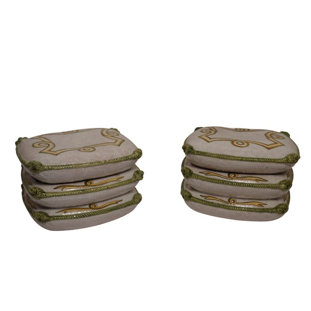 Hollywood Regency Vintage Neoclassical Ceramic Garden Stools - a Pair For Sale - Image 3 of 11