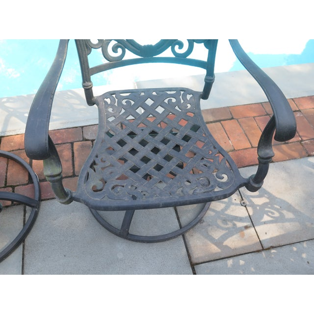 Remarkable Darlee Cast Aluminum Table Chair Patio Set Set Of 11 Home Interior And Landscaping Spoatsignezvosmurscom