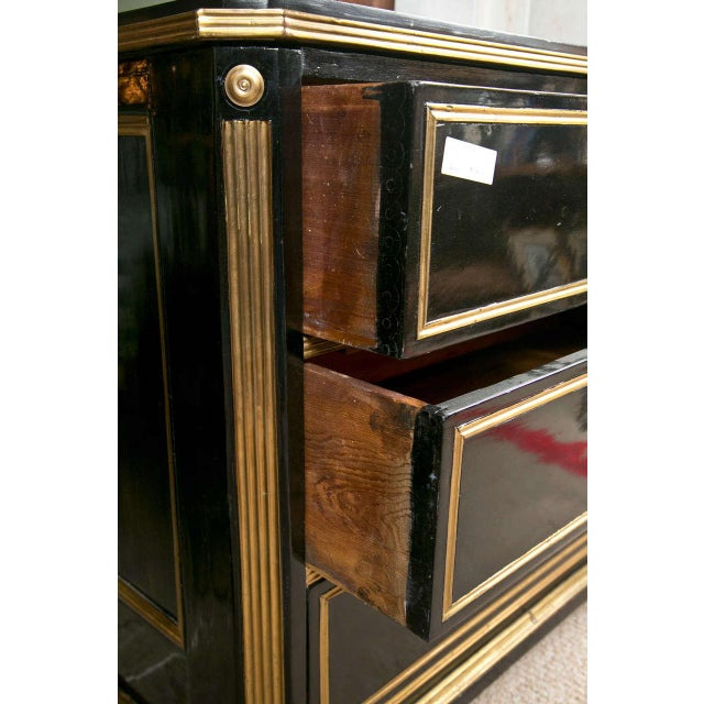 Russian Neoclassical Style Ebonized Commode / Chest of Drawers / Cabinet 19th C. For Sale - Image 4 of 8