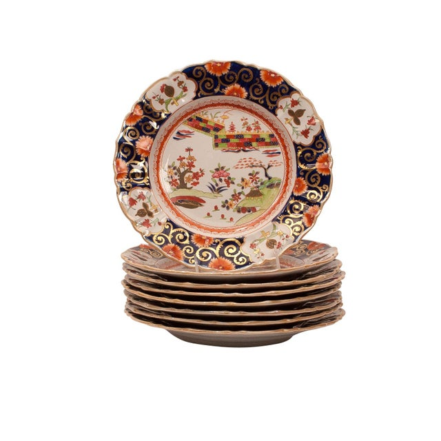A set of 8 early 19th Century English Mason's Ironstone bowls in the Chinese taste, circa 1830