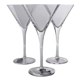 Vintage Crystal Panache Martini Glass by Mikasa - Set of 3 For Sale