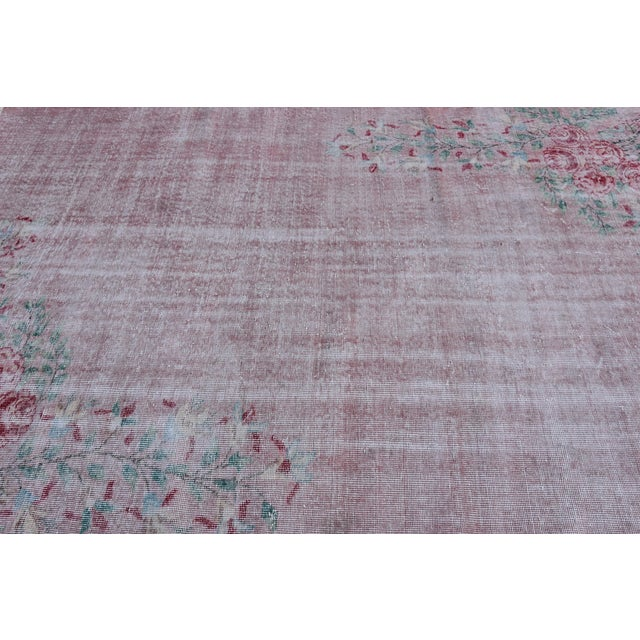 Antique Handmade Faded Area Rug - 5′8″ × 8′7″ For Sale In San Francisco - Image 6 of 9