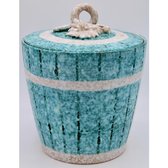 Mid Century Italian Terra Cotta Champagne Ice Bucket by Fratelli Fanciullacci For Sale In Tulsa - Image 6 of 13