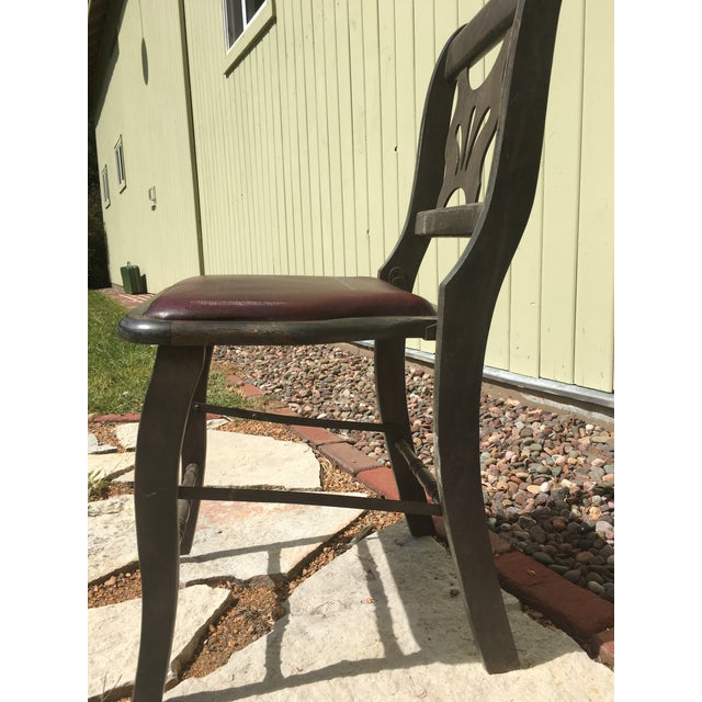 Antique Vintage Folding Theater Chair For Sale - Image 4 of 7