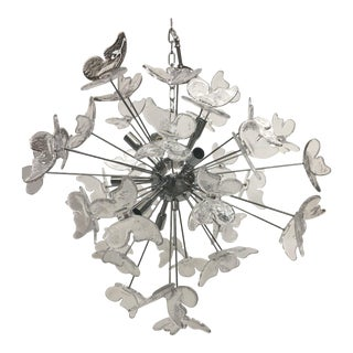 Murano Glass Butterfly Sputnik Chandelier For Sale