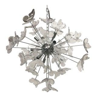 Murano Glass Butterfly Sputnik Chandelier For Sale
