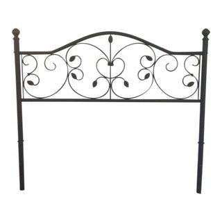 Vintage Metal Twin Headboard
