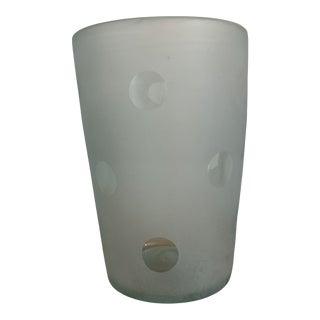 Polka Dot Hand Blown Glass Vase For Sale