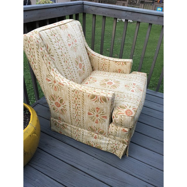 Lane Furniture Clyde Pearson Vintage Swivel Chair For Sale - Image 4 of 11