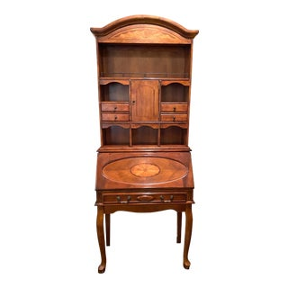 French Drop-Front Secretary With Hutch For Sale