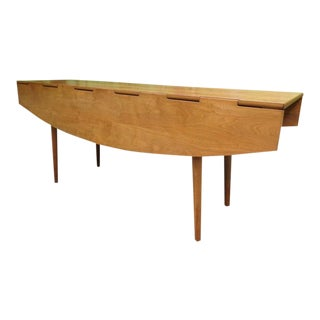 C. 1960 Drexel Parallel Barney Flagg Drop Leaf Console Dining Table For Sale